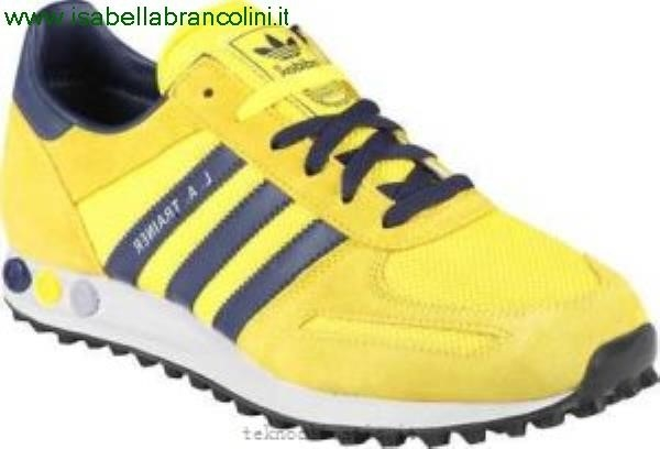 adidas trainer gialle e blu